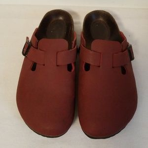 Birkenstock Birkis Red Clogs